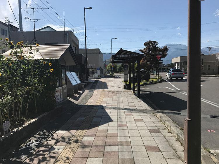 信濃大町駅前近辺