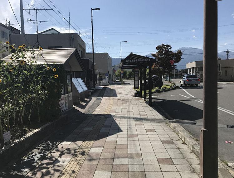 信濃大町駅前